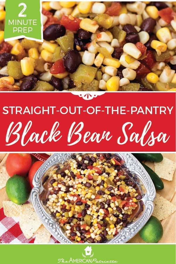 Black Bean Salsa Recipe Easy  Easy Prep Black Bean Salsa Recipe 02 The American Patriette