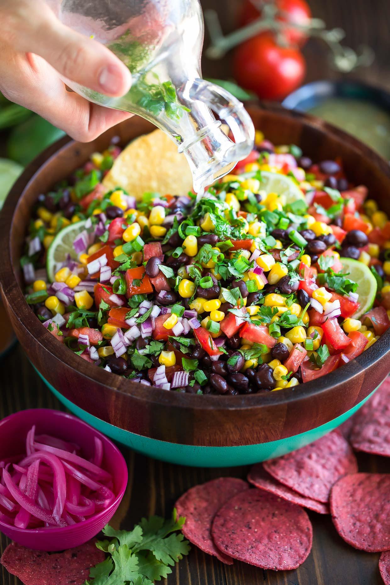 Black Bean Salsa Recipe Easy  Black Bean Salsa Recipe Peas and Crayons