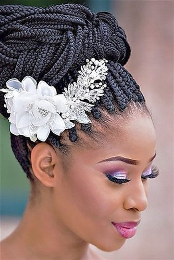 Black Bridesmaids Hairstyles  20 Wedding Updo Hairstyles for Black Brides Page 2