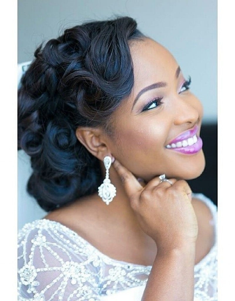 Black Bridesmaids Hairstyles  Wedding Hairstyles for Black Women african american