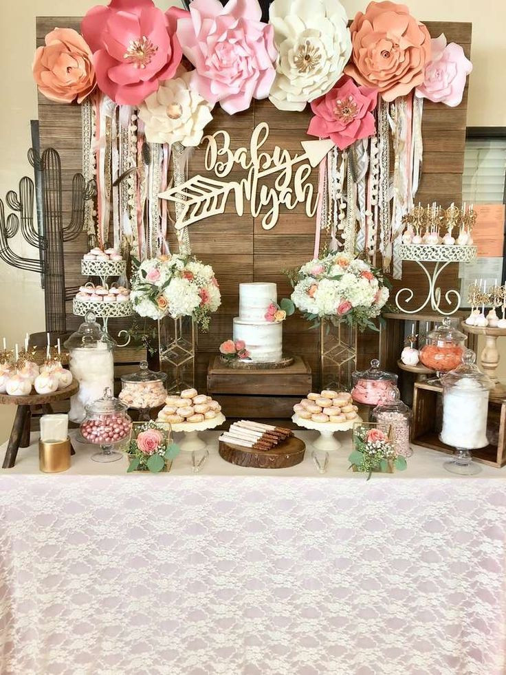Boho Baby Shower Decor  Boho Chic Baby Shower Party Ideas in 2019