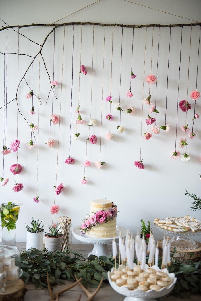 Boho Baby Shower Decor  Kara s Party Ideas Boho & Bubbly Baby Shower