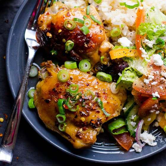 Bone In Chicken Thighs Slow Cooker  Slow Cooker Thai Chicken Thighs iFOODreal