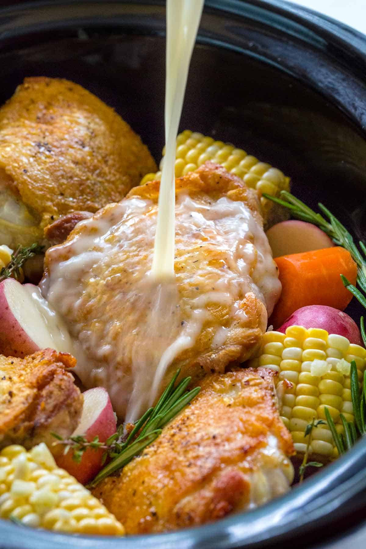Bone In Chicken Thighs Slow Cooker  Slow Cooker Chicken Thighs with Ve ables Jessica Gavin
