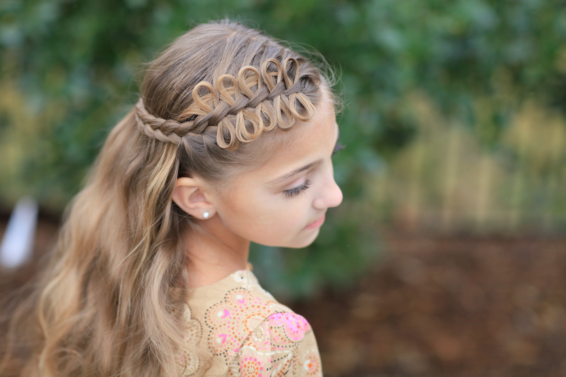 Braided Hairstyle Games  Prim s Bow Braid Tieback Catching Fire