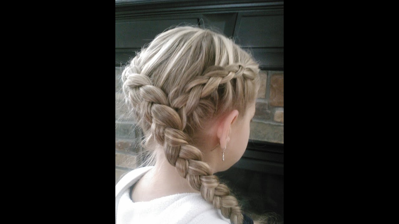Braided Hairstyle Games  Hunger Games Katniss Hairstyle How to do a Y Dutch