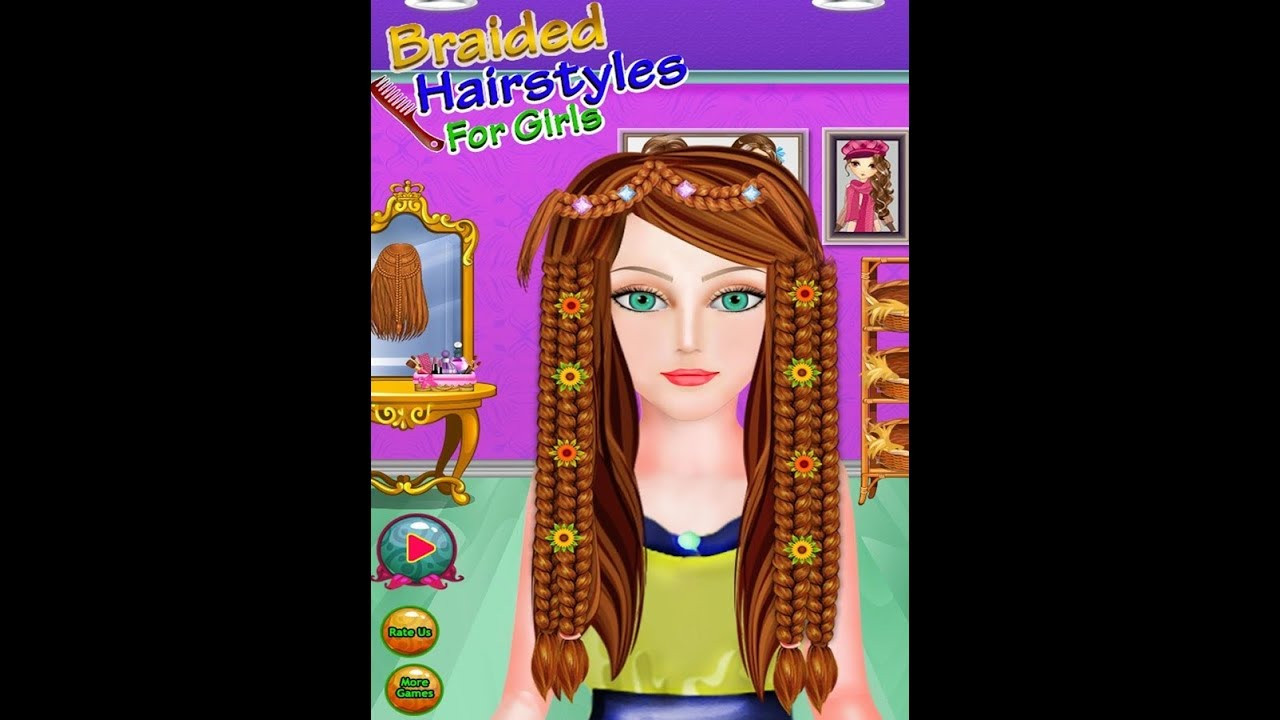 Braided Hairstyle Games  Braided Hairstyles Games for Girls Fun makeup & Dress up