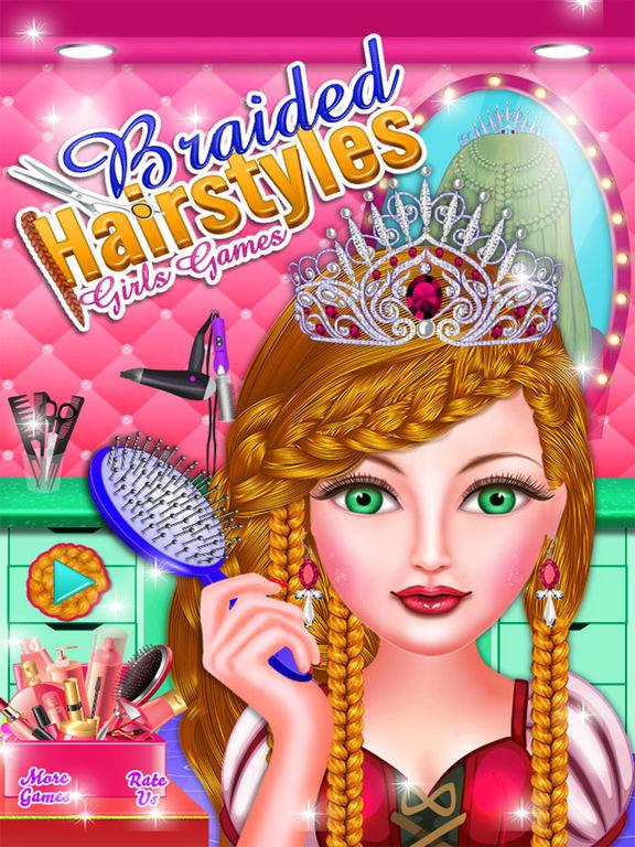 Braided Hairstyle Games  App Shopper Braided Hairstyles Girls Games Games
