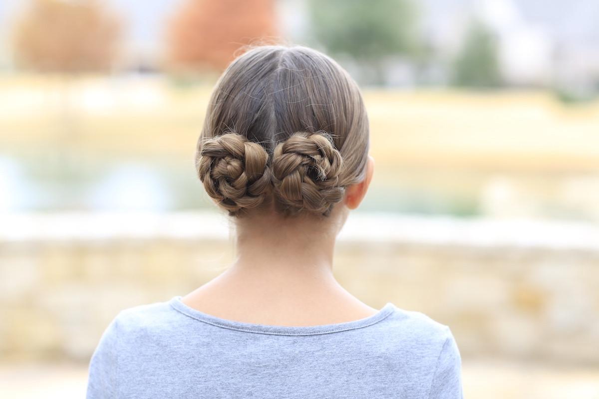 Braided Hairstyle Games  Prim s Braided Bun Updo Mockingjay Hairstyles