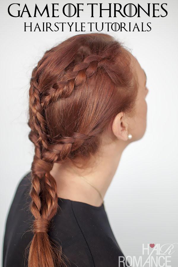 Braided Hairstyle Games  Game of Thrones Hairstyles – Khaleesi braids hairstyle