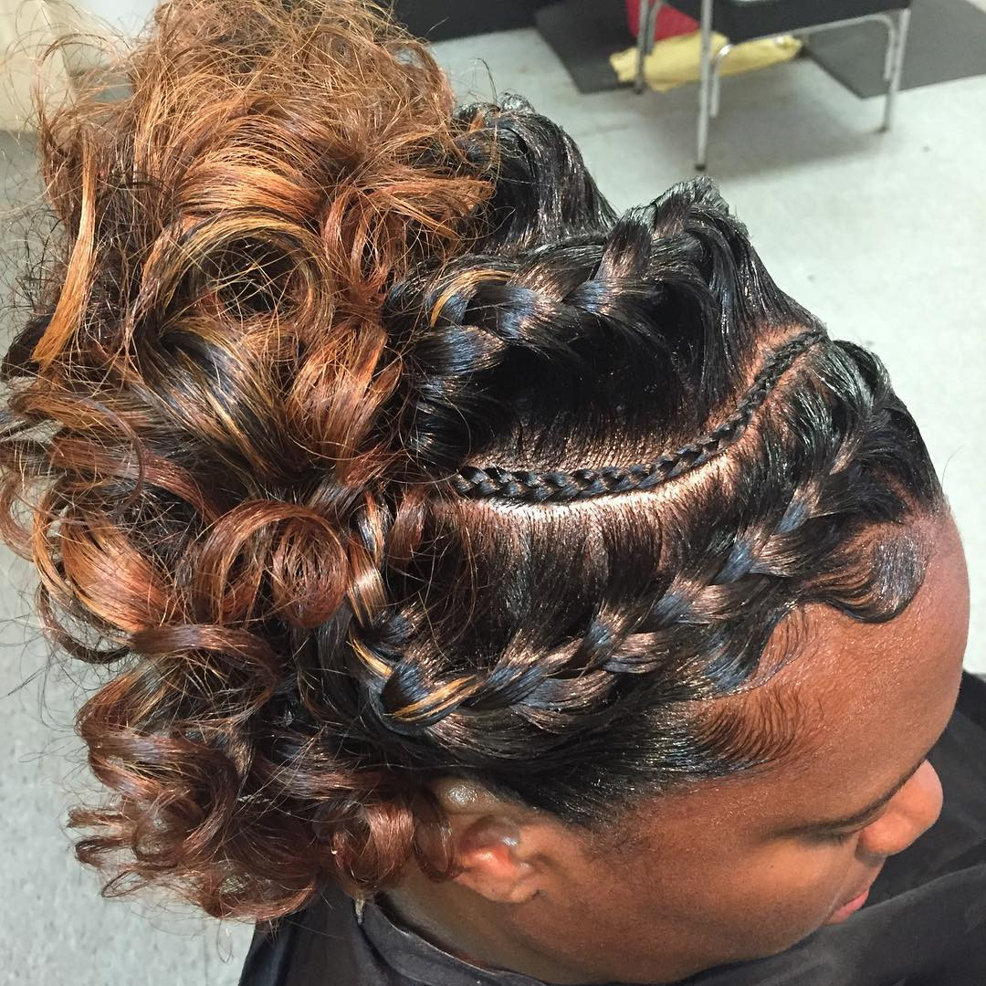 Braids And Curly Hairstyles  26 Goddess Braided Hairstyle Designs