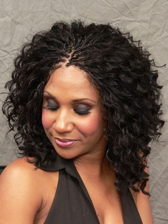 Braids And Curly Hairstyles  30 Protective Tree Braids Hairstyles For Natural Hair