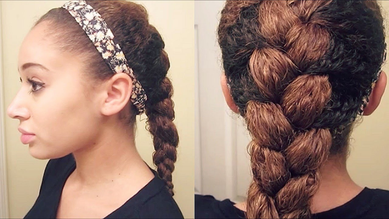 Braids And Curly Hairstyles  How To French Braid Curly Hair