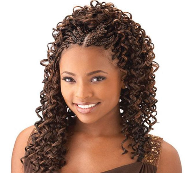 Braids And Curly Hairstyles  Curly Box Braids For Black Women