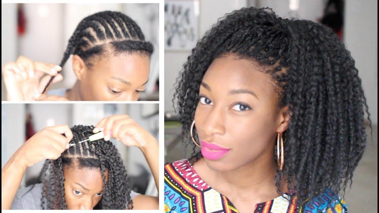 Brazilian Braid Crochet Hairstyles  Start to Finish How to Crochet Faux Freetress Brazilian
