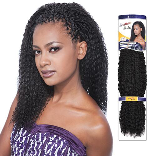 Brazilian Braid Crochet Hairstyles  FreeTress Synthetic Hair Crochet Braids Brazilian Braids