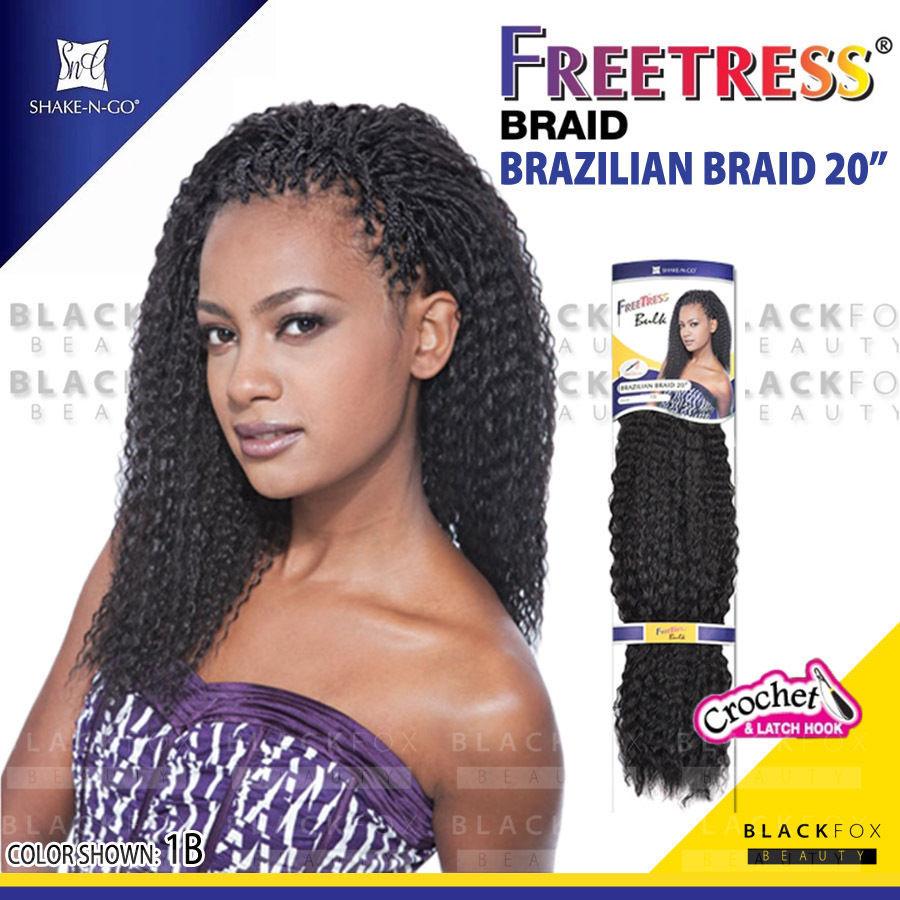 "Brazilian Braid Crochet Hairstyles  BRAZILIAN BRAID 20"" Freetress Synthetic Crochet Braiding"