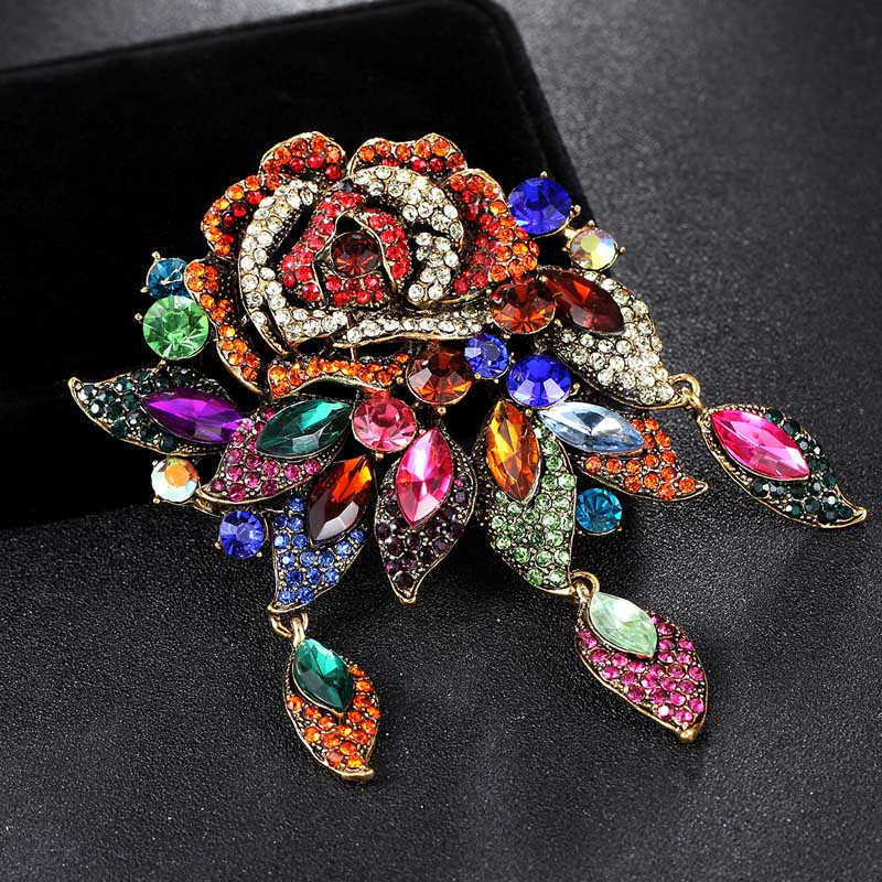 Brooches Outfit  Big colorful flower Brooches for Women Wedding Jewelry