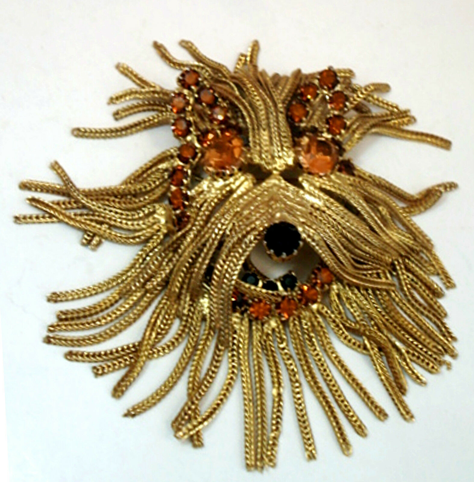 Brooches Outfit  Vintage Costume Jewelry Shaggy Dog Fringed Pin Brooch