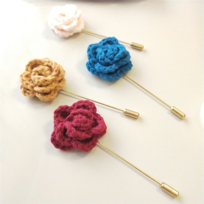 Brooches Packaging  Beautiful Brooch Needle 3 Pieces Pack DIY Crochet Rose