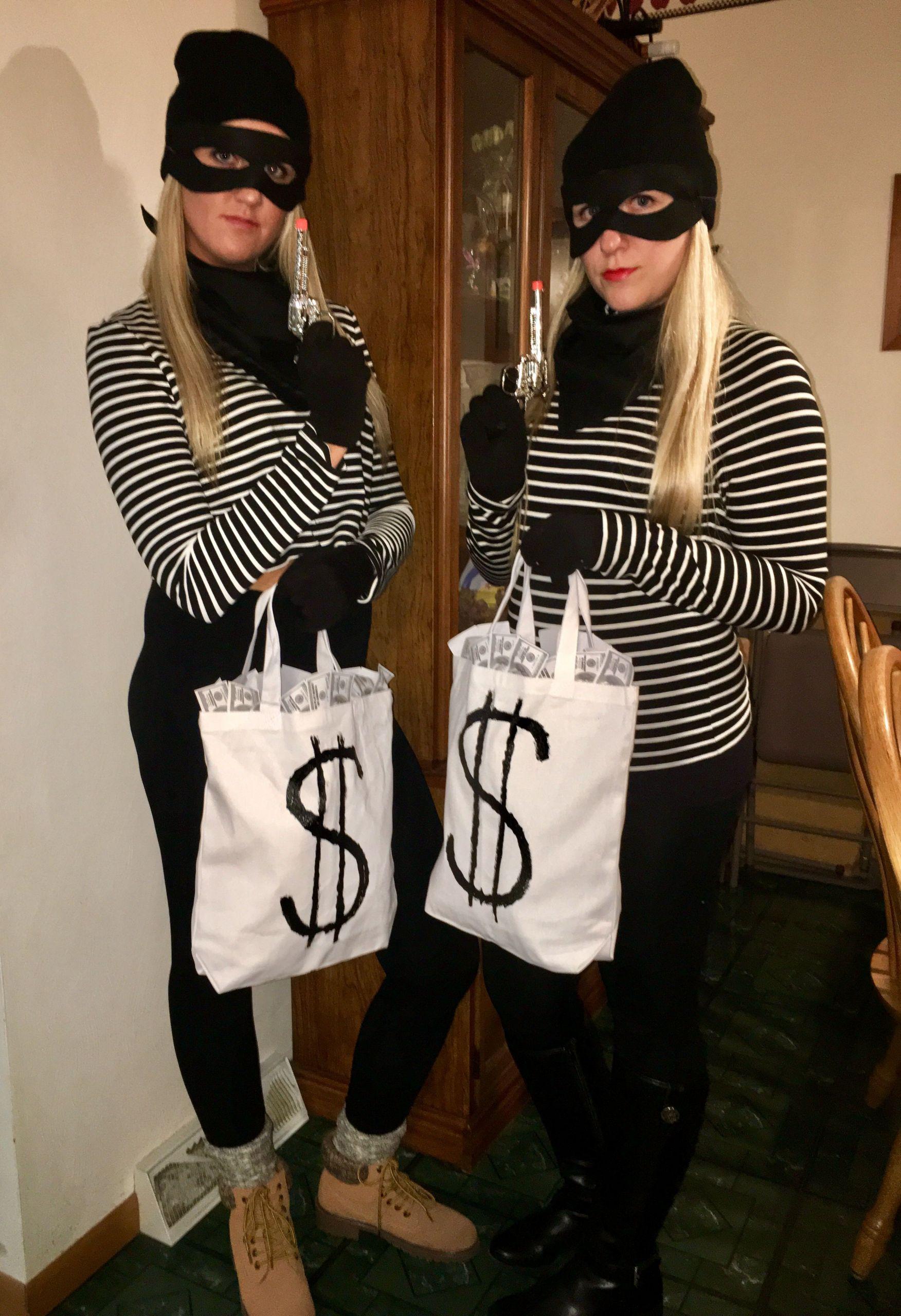 Burglar Costume DIY  Bank robbers halloween costume bankrobber