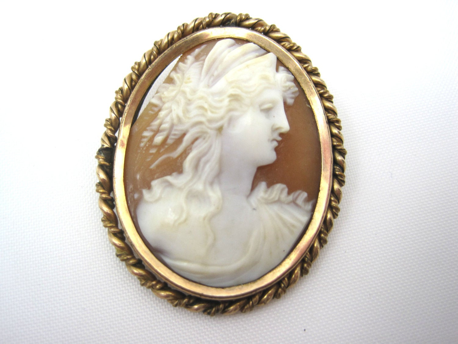 Cameo Brooches  Antique Cameo Brooch 1800s Carved Shell