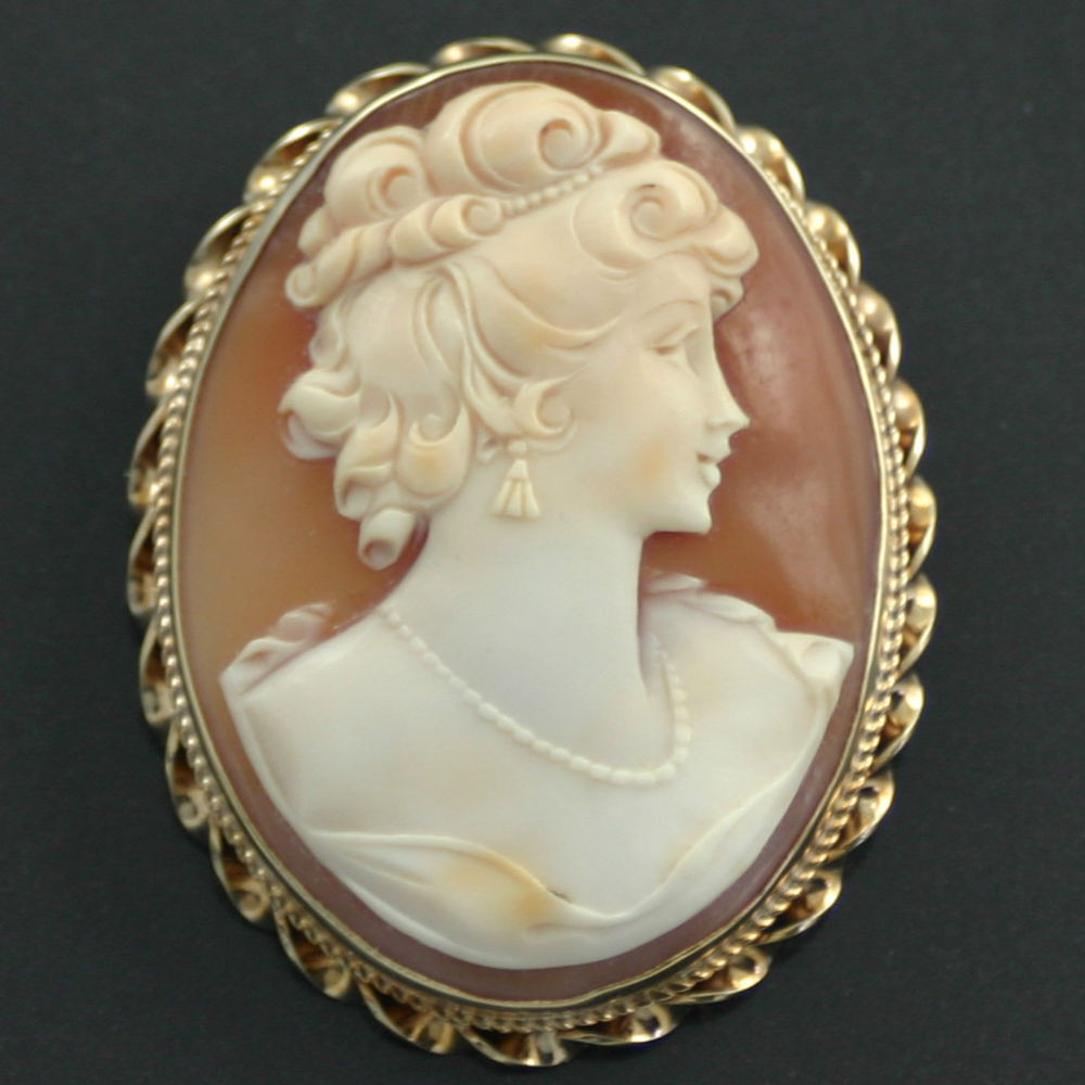 Cameo Brooches  15ct Gold Cameo Brooch Carus Jewellery