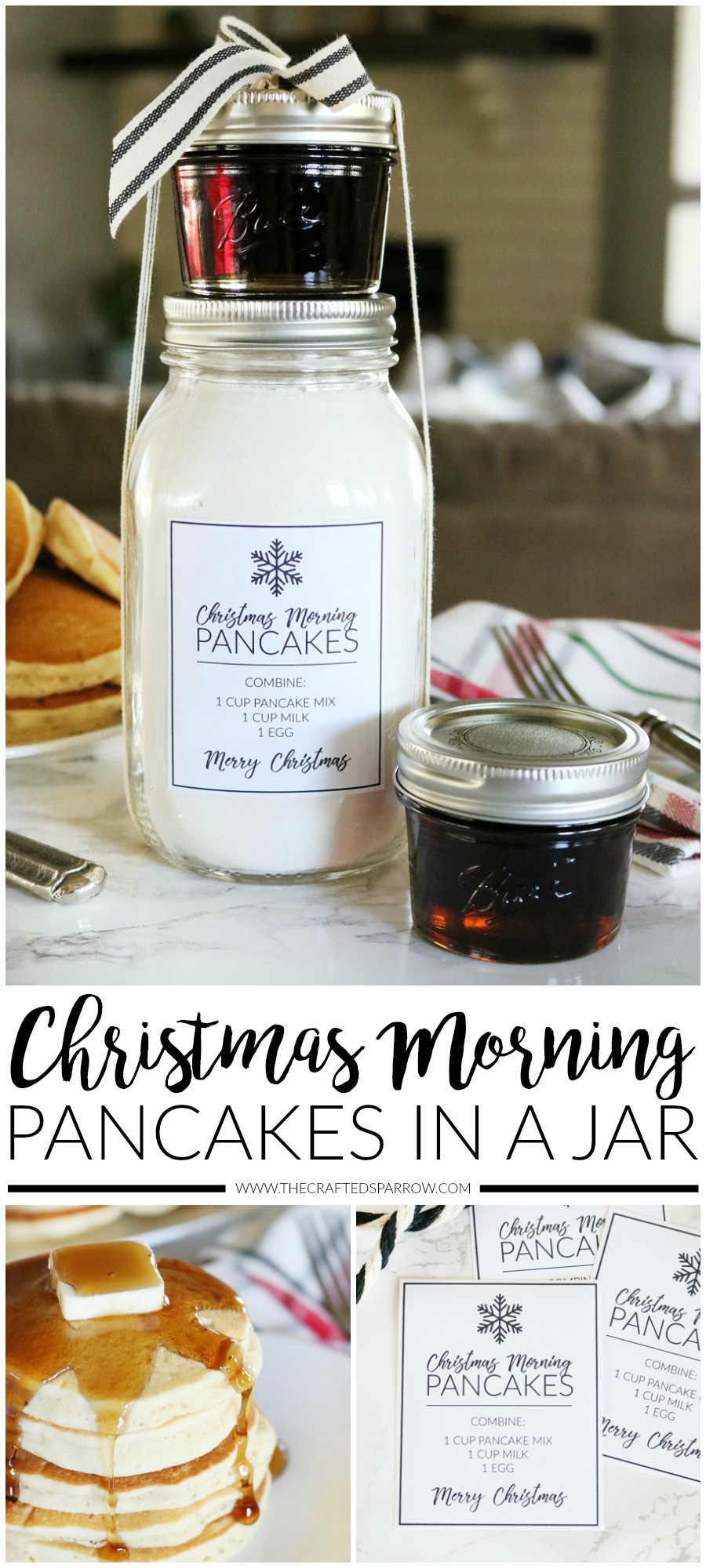 Canning Gift Ideas Holidays  Christmas Morning Pancakes in a Jar Gift Idea with Printables