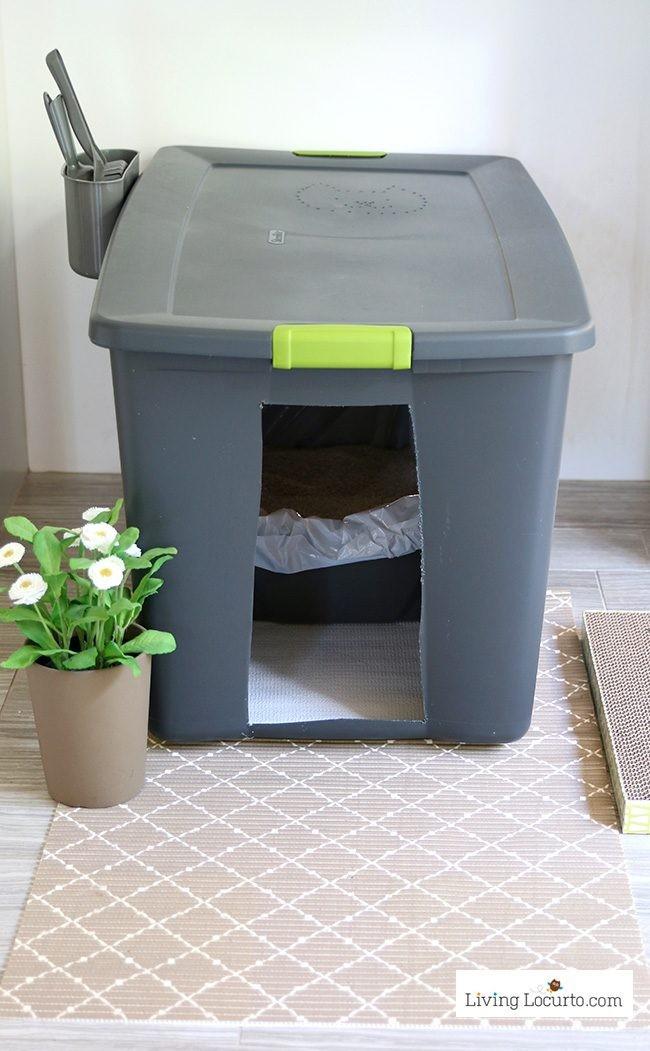 Cat Litter Box DIY  DIY Cat Litter Box Holder