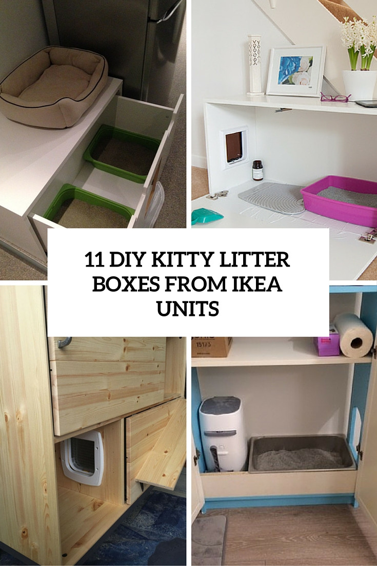Cat Litter Box DIY  11 Simple DIY Kitty Litter Boxes And Loos From IKEA Units