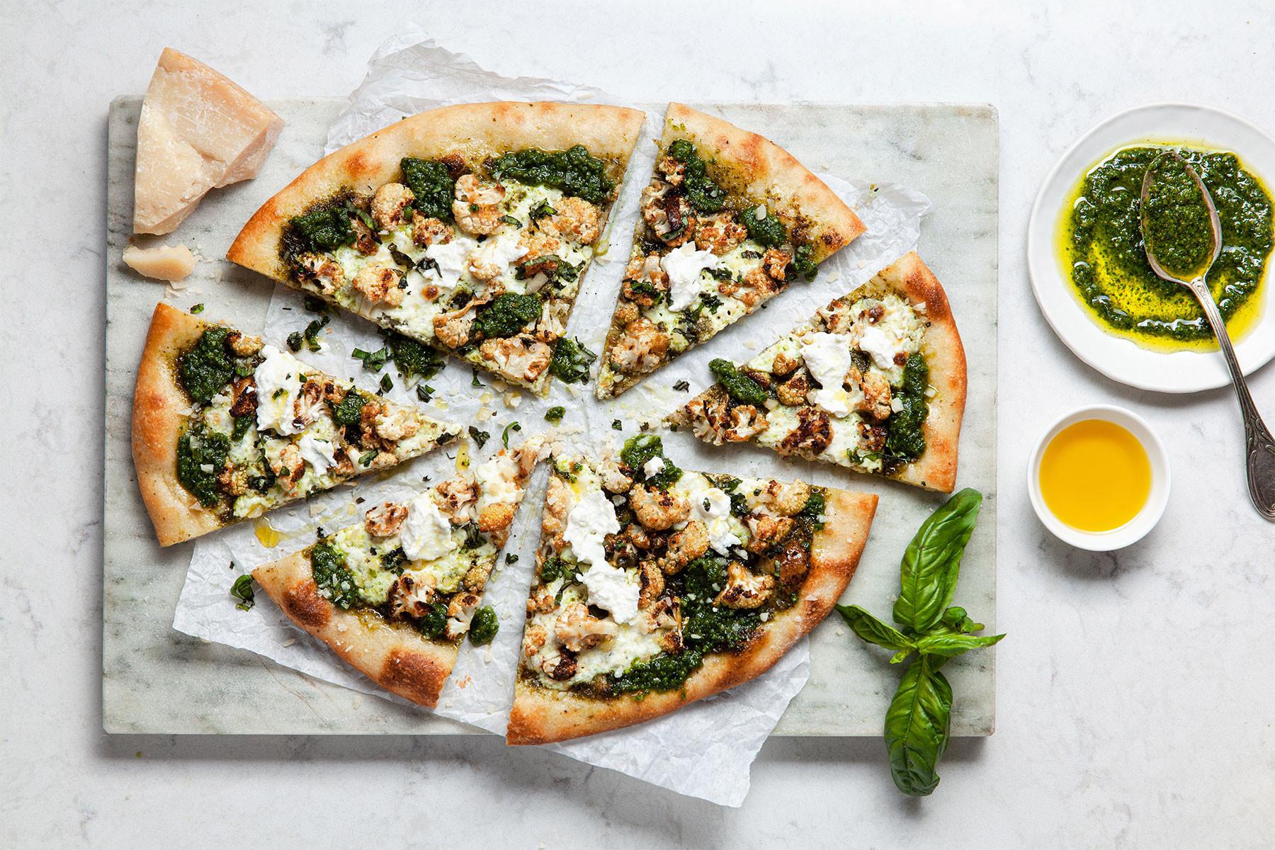 Cauliflower Pizza Crust Publix  Cauliflower Pesto Pizza Colavita Recipes