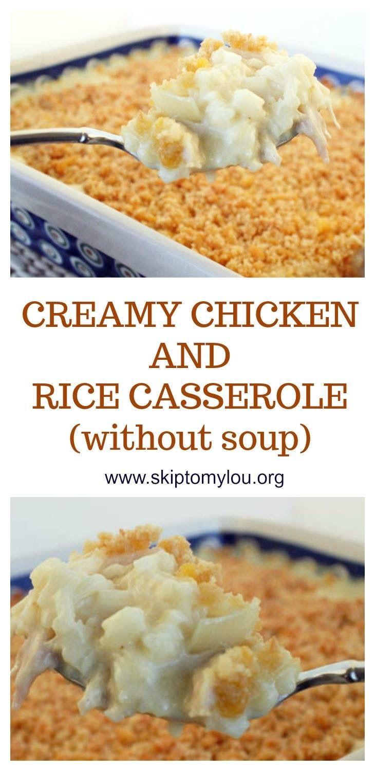 Chicken And Rice Casserole Without Soup  THE best homemade chicken and rice casserole made without