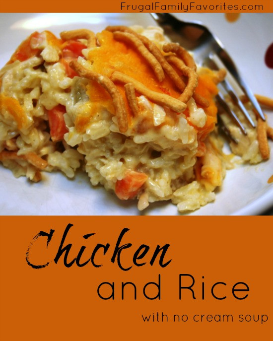 Chicken And Rice Casserole Without Soup  Chicken and Rice without Cream of Soup