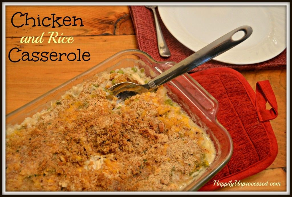 Chicken And Rice Casserole Without Soup  Chicken and Rice Casserole with NO creamed soups