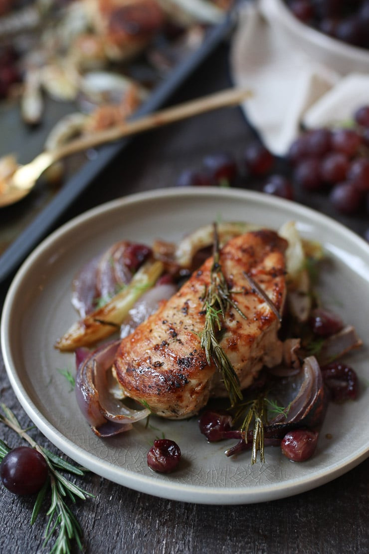 Chicken Breast Sheet Pan Dinner  Rosemary Chicken Breast Sheet Pan Dinner with Roasted