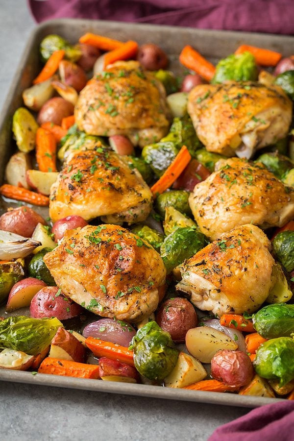 Chicken Breast Sheet Pan Dinner  Sheet Pan Roasted Chicken with Root Ve ables Cooking