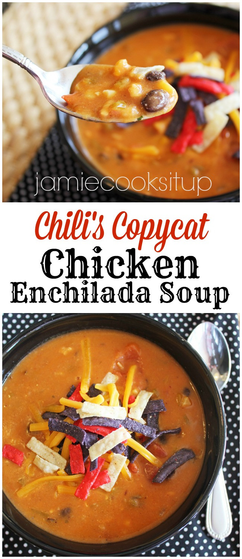 Chicken Enchilada Soup Chili'S  Chili's Copycat Chicken Enchilada Soup