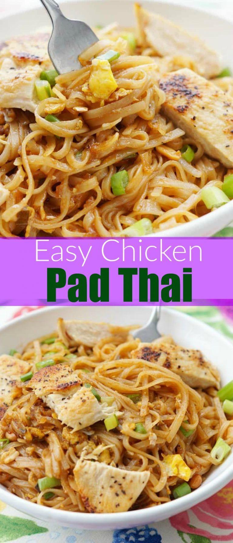 Chicken Pad Thai Calories Restaurant  Easy Chicken Pad Thai Recipe