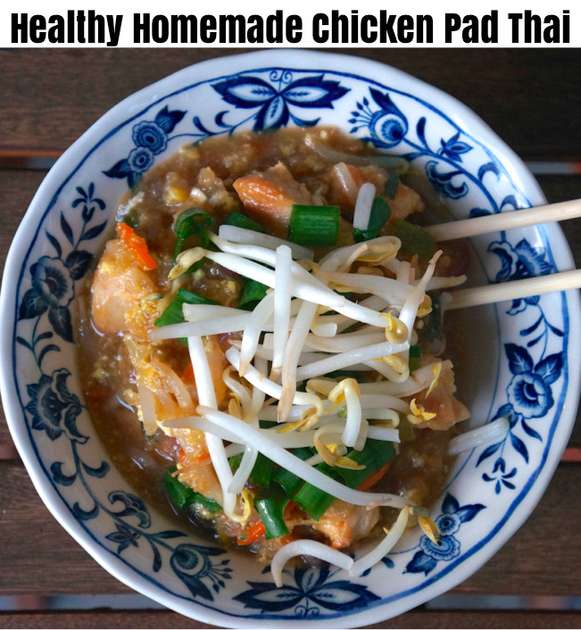Chicken Pad Thai Calories Restaurant  Healthy Homemade Chicken Pad Thai