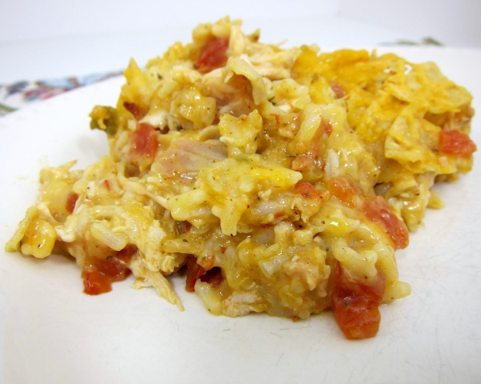 Chicken Rotel Casserole  Fiesta Chicken Casserole