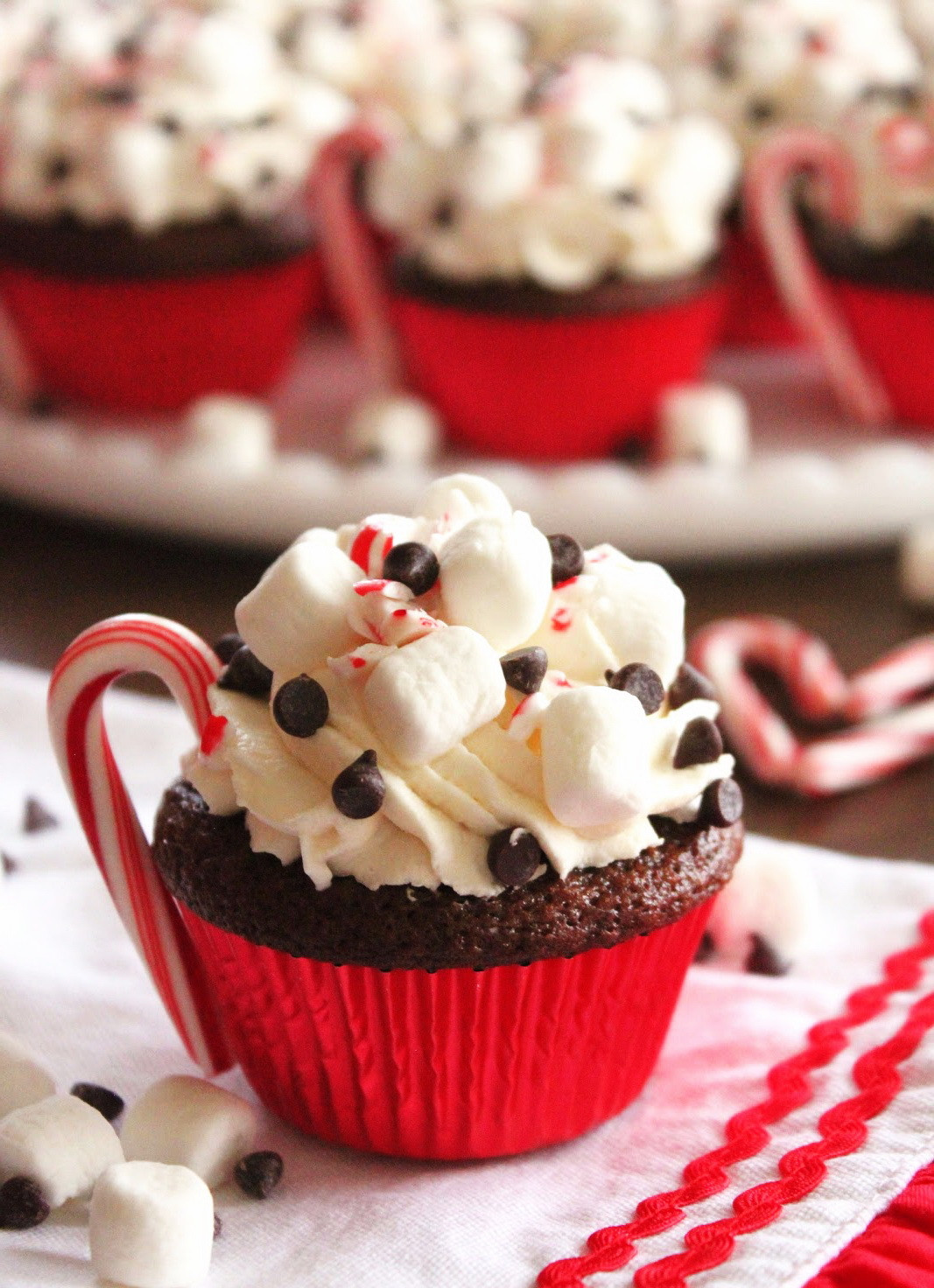 Chocolate Holiday Desserts  Hot Cocoa Chocolate Cupcake – Christmas Party Dessert Food