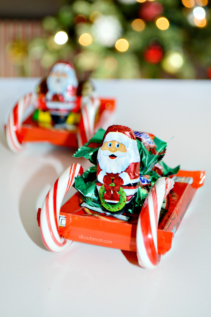 Christmas Candy Sleigh  How to Make Candy Sleighs About A Mom
