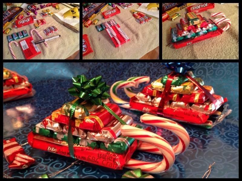 Christmas Candy Sleigh  Do It Yourself Ideas