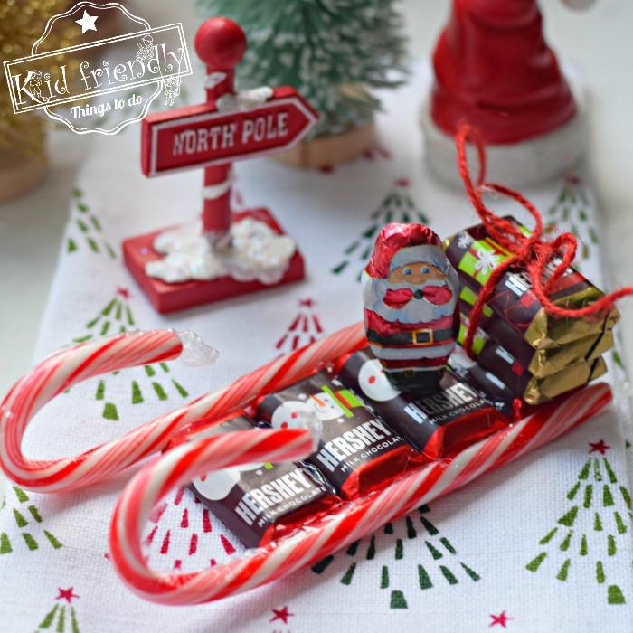 Christmas Candy Sleigh  How to Make a Christmas Candy Cane Sleigh