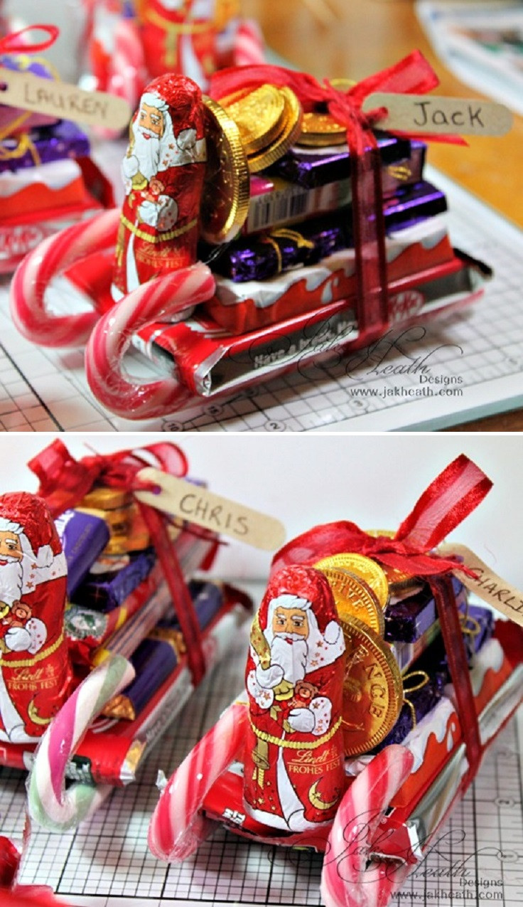 Christmas Candy Sleigh  12 Wondrous DIY Candy Cane Sleigh Ideas That Will Leave
