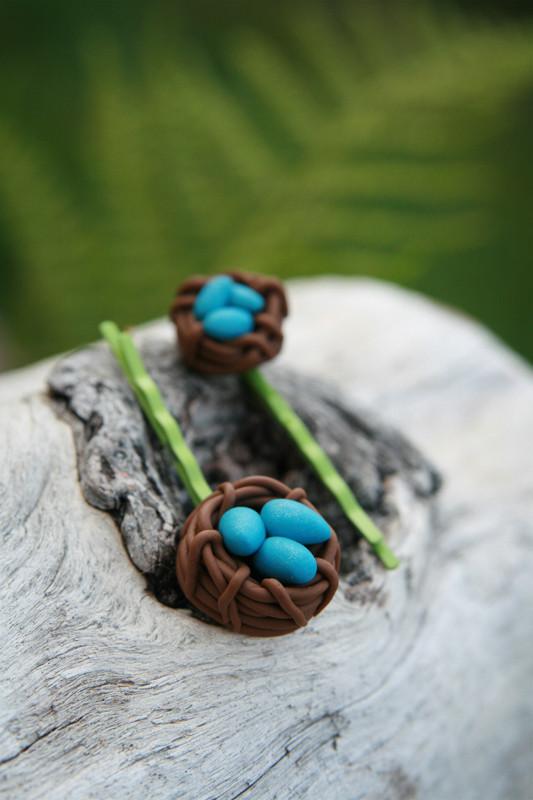 Clay Pins  Tutorial Bird Nest Hairpins – Polymer Clay