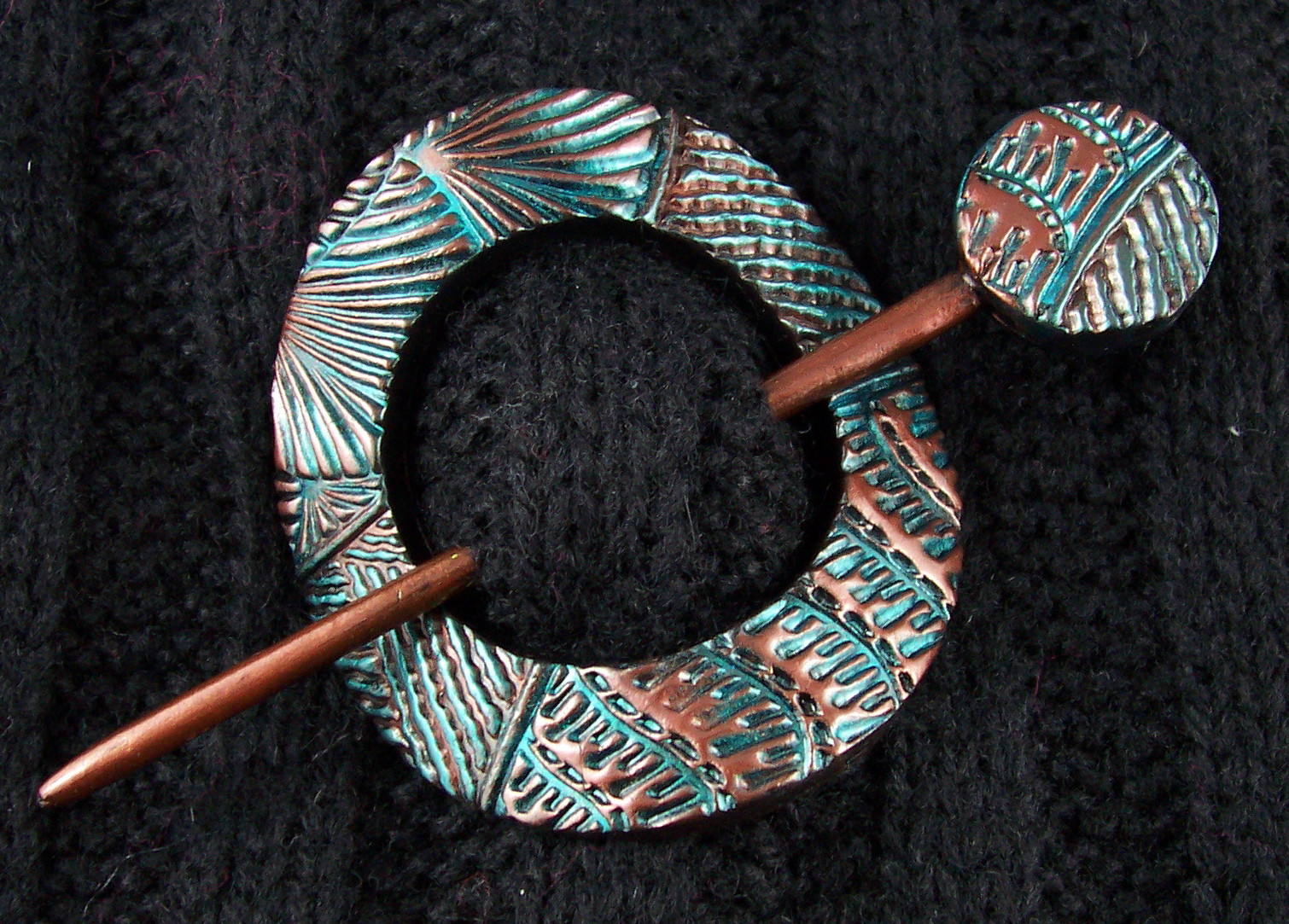 Clay Pins  2 Good Claymates More Shawl Scarf Pins