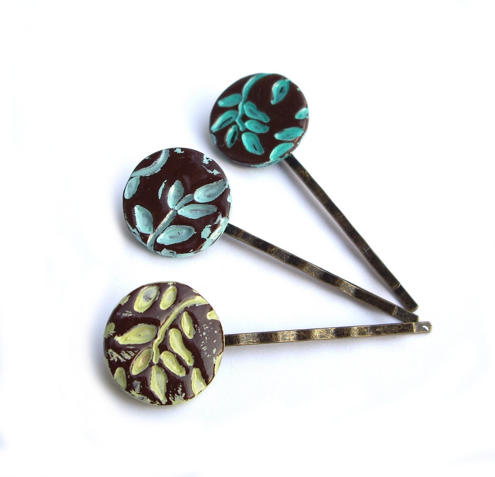 Clay Pins  JP with love Jewelry And Hair Accessories Blog HAIR PINS