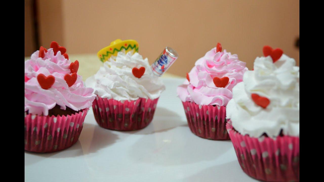 Como Hacer Cupcakes  Cómo hacer cupcakes san valentin CHUCHEMAN1 2013