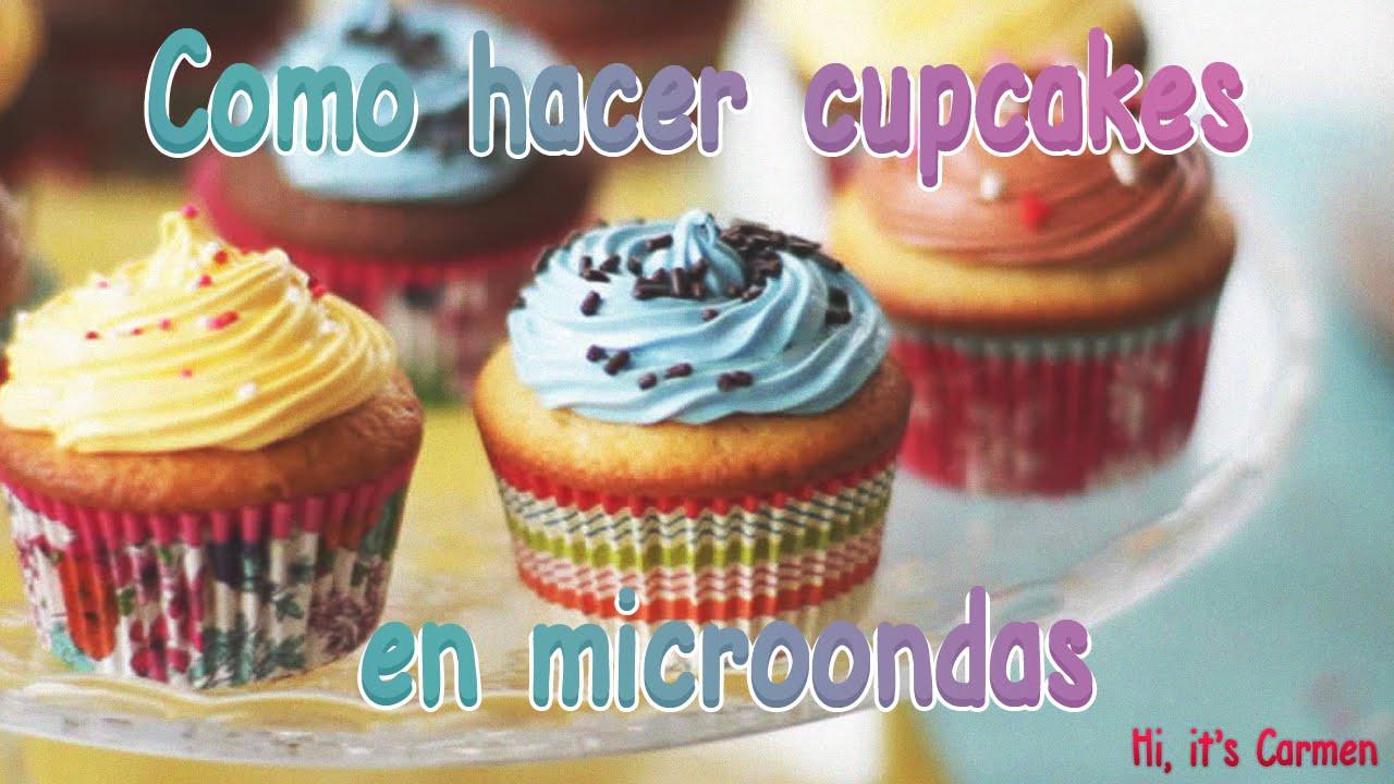Como Hacer Cupcakes  o hacer cupcakes en microondas